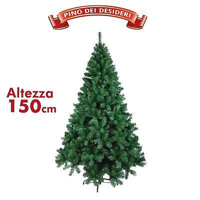 Albero Di Natale 150 Cm.Albero Di Natale 150 Cm 350 Punte Folto Verde Pino Dei Desideri Realistico 2018