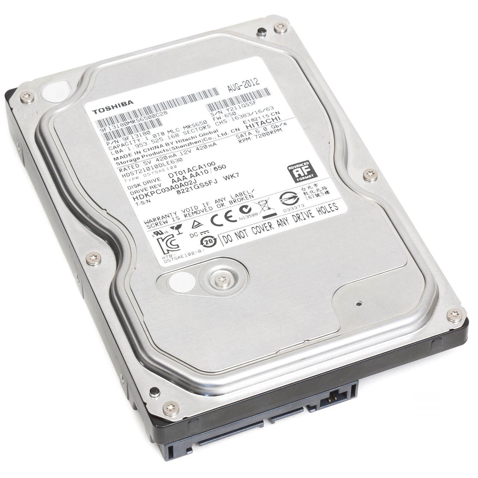 HD HDD HARD DISK INTERNO TOSHIBA 3,5″ 3.5″ SATA III 3 500GB 1TB 2TB 3TB 7200RPM