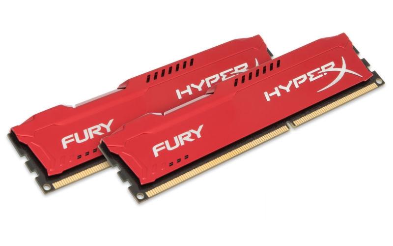 KINGSTON KIT RAM DDR3 HYPER X FURY 2X4GB 8GB 1866MHZ PC3 CL10 RED HX318C10FRK2/8