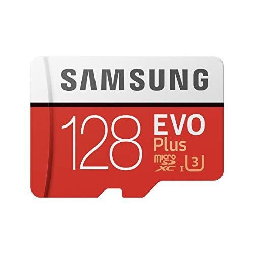 Samsung MB-MC128GA/EU EVO Plus Scheda MicroSD da 128 GB, UHS-I, Classe U3, fino a 100 MB/s di Lettura, 90 MB/s di Scrittura, Adattatore SD Incluso [Vecchio Modello]